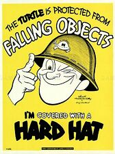 ADVERTISING 1944 HARD HAT WARTIME SAFETY ART POSTER PRINT PICTURE LV6806