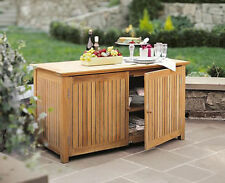 A GRADE TEAK BAR CHEST CABINET TEAK GARDEN OUTDOOR PATIO POOL FURNITURE NEW