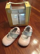 NWT Robeez Leather Mini Shoes Annie Rose Smoke Mary Janes 6-9 Months Girl $36