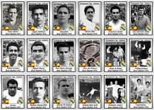 Real Madrid European Cup winners 1956 football trading cards