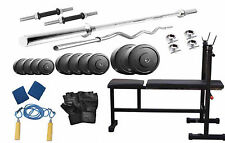 Protoner 20 kg with 3 in 1 Bench  weight lifting home gym fitness pack