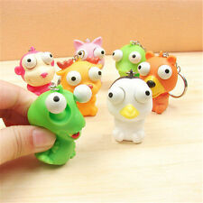 Lovely Animal Squeeze Toy Pop Out Eyes Doll Stress Relief Keyring Key Chain Ring