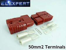 ANDERSON PLUG 175 AMP_BATTERY CONNECTOR_JUMP START_SLAVE ASSIST_X2_RED_50MM2
