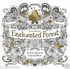 Enchanted Forest: An Inky Quest and Colouring Book Paperback - BRAND NEW - U.K