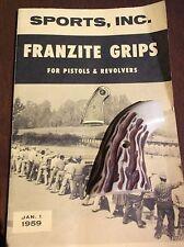 Vintage 1950's Franzite Grip Colt SA Frontier Scout Revolver Grip Faux Staghorn