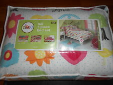 Circo 7 piece bed set FULL size Peace girl collection NIP hearts flowers birds