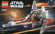 LEGO STAR WARS 'V-WING FIGHTER' 6205 CLONE PILOT, R4-P17 100% COMPLETE GUARANTEE