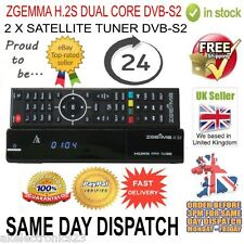 ORIGINAL ZGEMMA H.2S DUAL CORE SATELLITE RECEIVER DVB-S2 TUNER FREE TO AIR