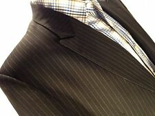 A52 Insigna Collezione 2 Piece Suit Black Pinstripe 46L 2-Button Dual Vent