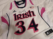 Markisha Wright '14 Notre Dame Fighting Irish Game Used Auto'd Authentic Jersey