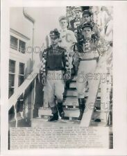 1952 Race Horse Jockeys Tony DeSpirito Tropical Park Coral Gables Press Photo