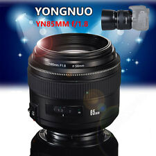 Auto Focus Lens YONGNUO YN 85MM F/1.8+Case For Canon EOS 7DII  5DII 5DIII 5DSR