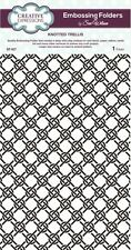CREATIVE EXPRESSIONS A4 Embossing Folder by Sue Wilson KNOTTED TRELLIS EF-027 *