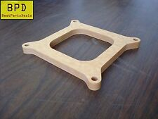 "Carb Spacer 1/2"" Thick 4-barrel Square Bore Pattern Open Fiber Laminate Wood"