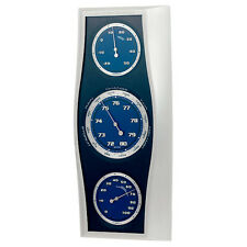 Weather Station Barometer Hygrometer Thermometer  Modern Metallic Design Quality