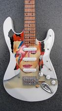 RGM55 David Bowie Miniature Guitar with leather strap