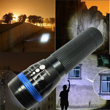 Ultra Bright Torch 500 Lumen Zoomable LED Flashlight Outdoor Lighting Blue