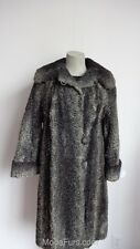 Women's Sz 10 VINTAGE Gray Persian Lamb Fur Jacket Coat Grey AS IS SALE