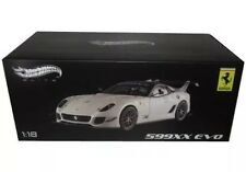 ELITE FERRARI 599XX 599 XX EVO WHITE 1/18 DIECAST MODEL CAR BY HOTWHEELS BCJ92