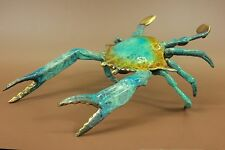 Life Size Crab Lobster Restaurant Bar Decor Special Patina Bronze Sculpture Sale
