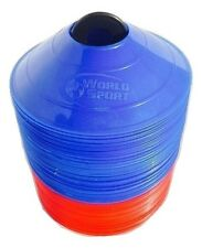 100 Disc Cones Red Blue Soccer Field marking Coaching FREE SHIPPING & STAND