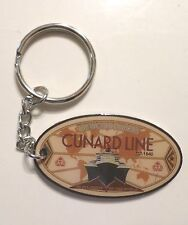Cunard Cruise Line Key Ring . Queen Victoria, Mary 2, Elizabeth . Ship Sea Boat