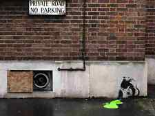 Banksy Rat Toxic Spill Pavement Wall A3 Sign Aluminium Metal Large