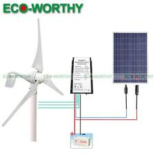 500W/H Kit: 400W Wind Turbine Generator & 100W Solar Panel & Battery Controller