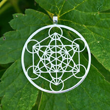 NEW Metatron's Cube Silver/Gold  Pendant - Sacred Geometry Jewlery + Chain