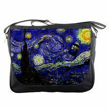 Tardis Vincent Van Gogh Doctor Who Starry Night Shoulder Messenger School Bag