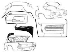 Mustang Rubber Kit Door Screen Trunk Weatherseals Seals 1969 1970 69 70 Coupe