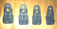 4 x Grey Moroccan mat clips Groundsheet Tarpaulin Eyelet Repair Holdon Clingons