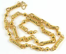 Women's 14 Carat Gold plated Barrel Bead Chain Necklace Jewellery