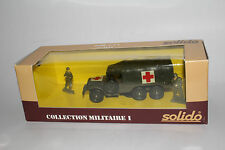 SOLIDO MILITARY #6024 DODGE 6X6 U.S. ARMY MILITARY AMBULANCE TRUCK, 1:50, NIB