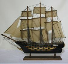 "HMS VICTORY 25"" Abt. 1:120 Scale Crafted Wooden Model Ship FREE Mainland Postage"