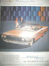 PUBLICITE DE PRESSE OLDSMOBILE NINETY-EIGHT AUTOMOBILE ADVERTISING 1960