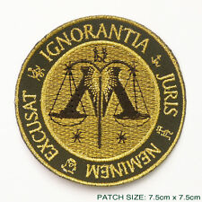 """HARRY POTTER """"THE MINISTRY OF MAGIC"""" Governmental Embroidered Patch!"""