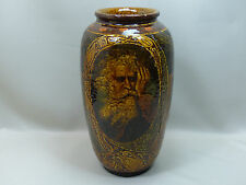 Rare Royal Doulton 1904 Rembrandt Ware Art Pottery Vase Lamp Wintry Wind as is