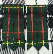 Scottish Kilt Sock Flashes Hunting Stewart Tartan/Highland Kilt Hose flashes