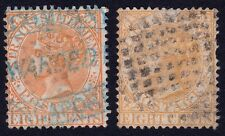 STRAITS SETT.1867 8c both shades Isc#14 & 14a USED @S3999