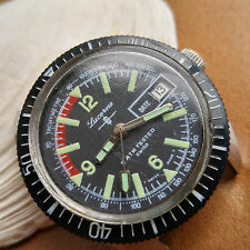 Vintage Lucerne Divers Watch w/Pristine Tachymetre Dial,Warm Patina FOR REPAIR
