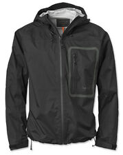 Orvis Men Encounter Jacket Medium M Windproof Waterproof Outdoor Rain Coat Black