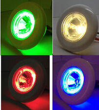 MARINE BOAT LED MULTI LIGHT PLASTIC HIGH POWER 1W WARM WHITE GREEN RED BLUE