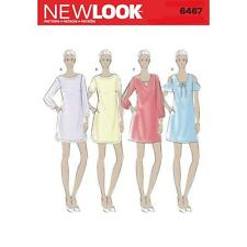 NEW LOOK SEWING PATTERN MISSES' SHIFT DRESSES DRESS SIZE 10 - 22 6467