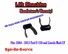 "2004 - 2013 Ford F150 F-150 Mark LT  2"" Lift Shackles SET RB Silent Bushing G"