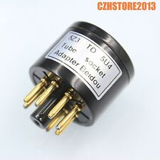 1PC 4Pin to 8Pin Vacuum Tube Socket Adapter Converter 5Z3 to 5U4 Gold Plated