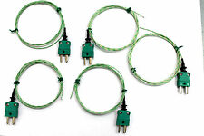 5 type K wire thermocouple sensors -60°C to +350°C