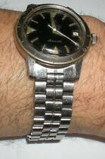 Zodiac Sea Wolf hacking military diver's men's auto watch w original bracelet !