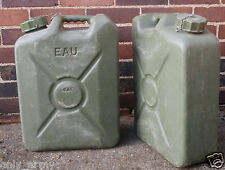 French Military 20L Jerry Can Army Water Petrol Diesel Hardened Plastic 20 Litre