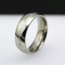 Size 9 Lord of the Rings The One Ring Lotr Titanium Steel Aragorn Ring Silver